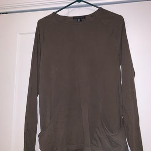 Olive Green Long Sleeve Shirt with Pockets